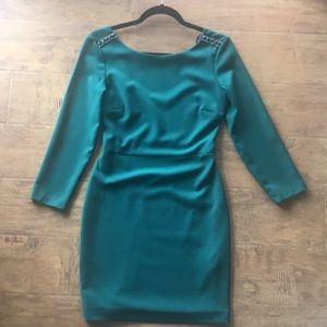 ZARA Emerald Green Sheath Dress